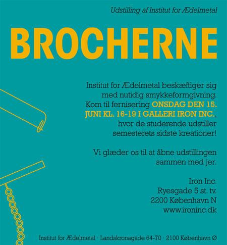 EXPO 'BROCHERNE' - Galleri Iron Inc., Copenhagen (DK) - 15-23 Juin 2011 dans Danemark (DK) Flyer_green1